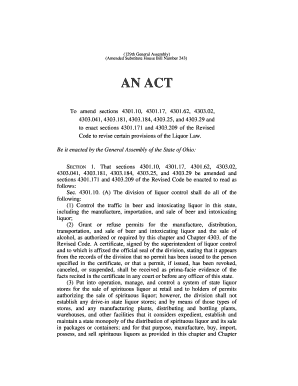 (129th General Assembly) (Amended Substitute House Bill Number 243) AN ACT To amend sections 4301 - archives legislature state oh