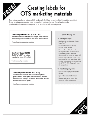 avery label template 5162 for word - Edit Online, Fill Out