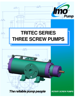 Fillable Online TRITEC SERIES THREE SCREW PUMPS - Imo Pump