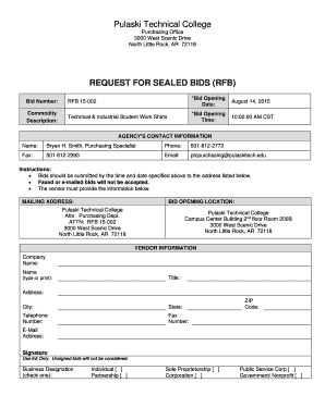 Printable Bid Form Template Fill Out Download Invoice Forms