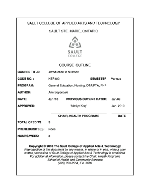 Fillable Online Sault College Of Applied Arts Technology Fax Email Print Pdffiller