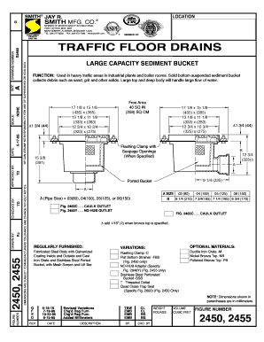 Fillable online 2450 2455 traffic floor drains large capacity fill online tyukafo