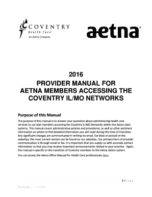 Aetna appeal letter example - Edit Online, Fill Out