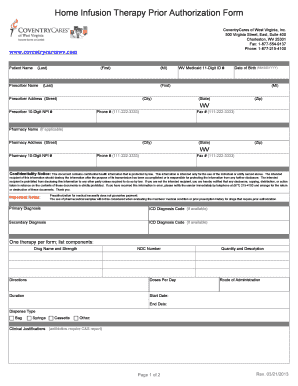 va prior authorization form Templates - Fillable & Printable ...