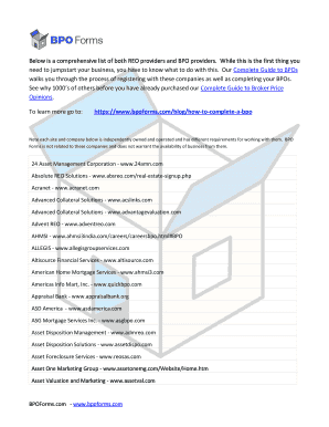 Fillable Online Below is a comprehensive list of both REO