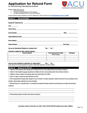 Interview Release Form Documentary. Refund Form 26082014   Australian  Catholic University