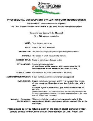 fillable online worcesterschools professional development evaluation