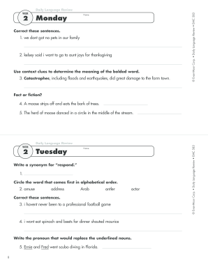 18 Printable daily progress report template for elementary students