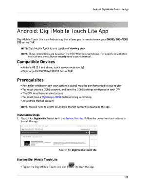 Fillable Online Android: Digi iMobile Touch Lite App Fax Email Print