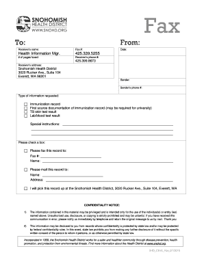 VPD Fax Template - Snohomish Health District - snohd