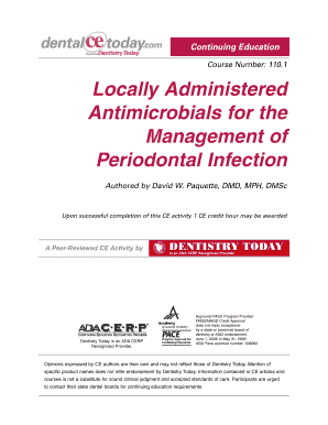 Course Number 1101 Locally Administered Antimicrobials