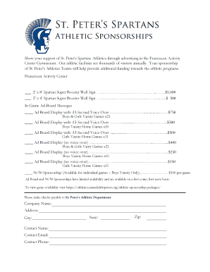 Printable athlete sponsorship proposal template - Edit, Fill Out