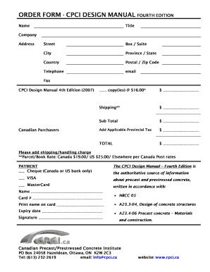 fillable online downloads cpci order form cpci design manual fourth rh pdffiller com cpci design manual free download cpci design manual 4