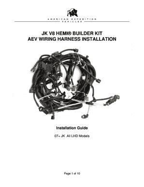 fillable online jk v8 hemi builder kit aev wiring harness rh pdffiller com Truck Wiring Harness wiring harness builder
