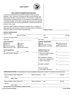 Real Property Transfer Tax Declaration Chicago