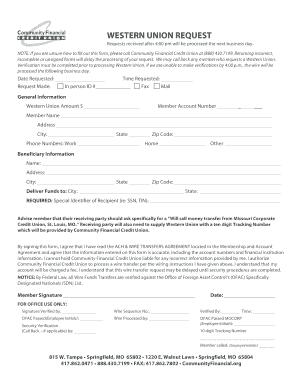 western union money transfer receipt generator - Edit, Print, Fill