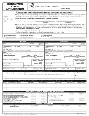 consumer loan application form pdf