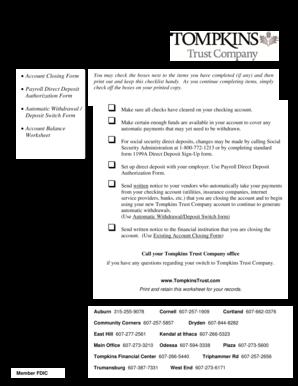 Chase financial worksheet pdf