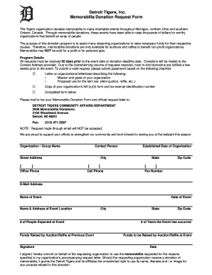 Donation Application - Fill Online, Printable, Fillable, Blank