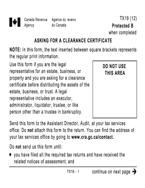how does a clearance certificate look like form