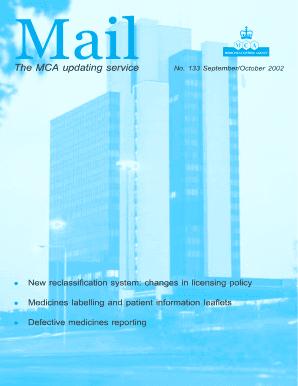 Fillable Online mhra gov Mail 133 (713Kb) - Medicines and