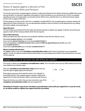 Sscs1 Form Pip - Fill Online, Printable, Fillable, Blank | PDFfiller