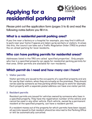 picture regarding Parking Notes Printable identify Kirklees Parking Enable - Fill On line, Printable, Fillable