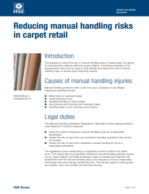 Manual handling risk assessment example forms document templates manual handling risk assessment example maxwellsz