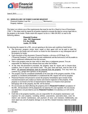 Foreclosure Letter Sample