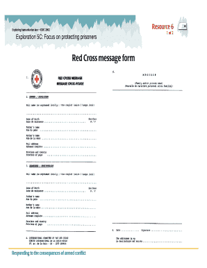 Red Cross Form - Fill Online, Printable, Fillable, Blank | PDFfiller