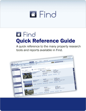 Quick Reference Guide - Find