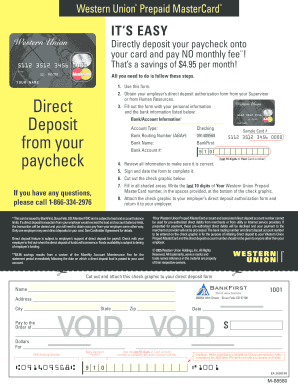 Void Western Union - Fill Online, Printable, Fillable, Blank