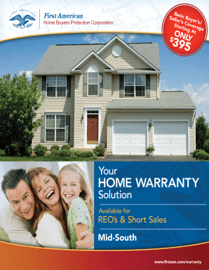 Fillable Online Sample Contract - First American Home Warranty Fax ...