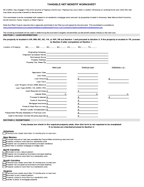 Texas Tangible Net Benefit Form - Fill Online, Printable ...