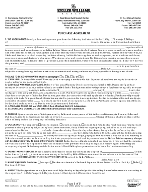 Page 1 of 5 PURCHASE AGREEMENT - Keller Williams Realty