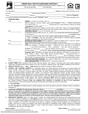 Prds Purchase Contract Filled Out  Blank Purchase Contract