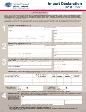 Fillable Online customs gov Australian Customs Form - B807. Claim ...