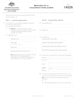 i need help to fill form 1402n