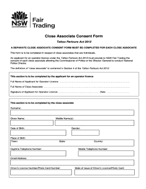 Consent Form | Tattoo Consent Form Australia Fill Online Printable Fillable