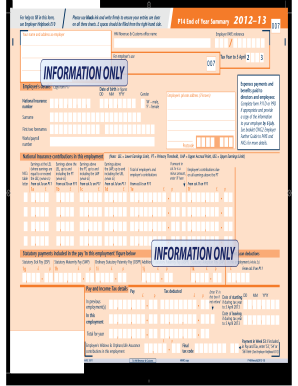 Copy Of P60 >> 2012 Form UK HMRC P14/P60 Fill Online, Printable, Fillable, Blank - PDFfiller