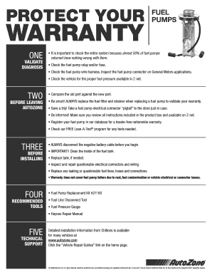 How To Check Autozone Warranties Fill Online Printable