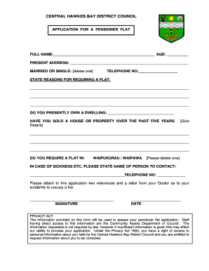 Cumberland council pensioner rates application form