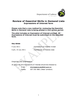 sample expression of interest letter australia form