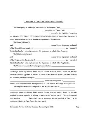 Fillable Online muni No-build Easement Agreement Form ...