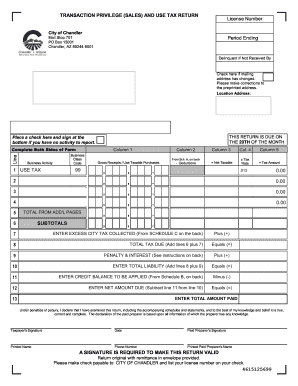 tempe az sales tax 2014 form