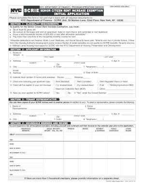scrie applying online form