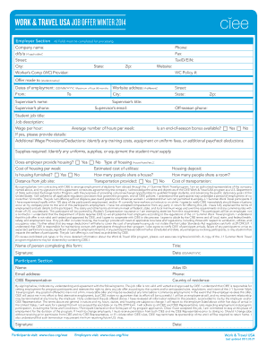 Job Offer Form - Fill Online, Printable, Fillable, Blank | PDFfiller