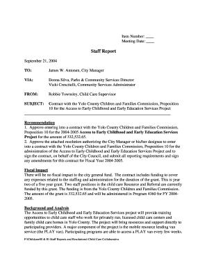Stage 1 Staff Report Meetings
