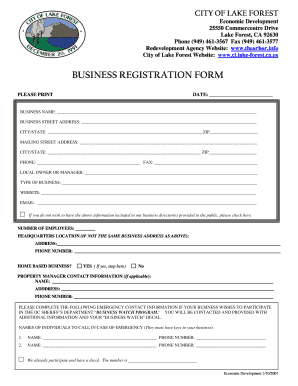 How Does An Online Registration Form For A Company Looks Like