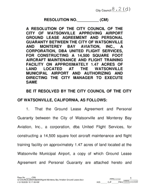 Charming (CM) A RESOLUTION OF THE CITY COUNCIL OF THE CITY OF WATSONVILLE APPROVING  AIRPORT
